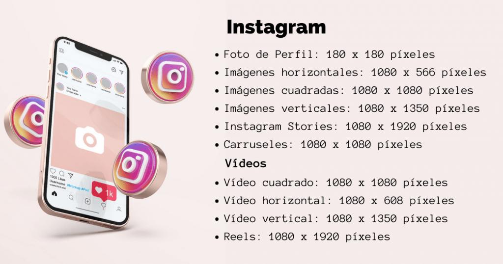 Tamaños recomendados en Instagram
